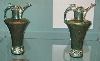 A pair of Iron Age ceremonial drinking vessels that date from the mid fifth century BC.