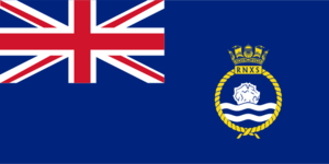 HMS Badger (shore establishment) - Ensign of the Royal Naval Auxiliary Service