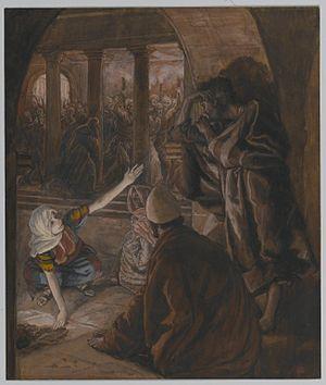 The Third Denial of Peter. Jesus' Look of Reproach