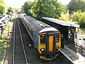 Brundall railway station - Unit 156 409 stops at platform 1 - geograph.org.uk - 1531813.jpg