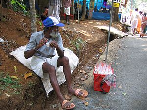 Kottiyoor Temple - Bubble vendor