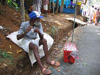 Kottiyoor Temple - Bubble vendor
