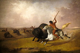 John Mix Stanley - Buffalo Hunt on the Southwestern Prairies, 1845, Smithsonian American Art Museum