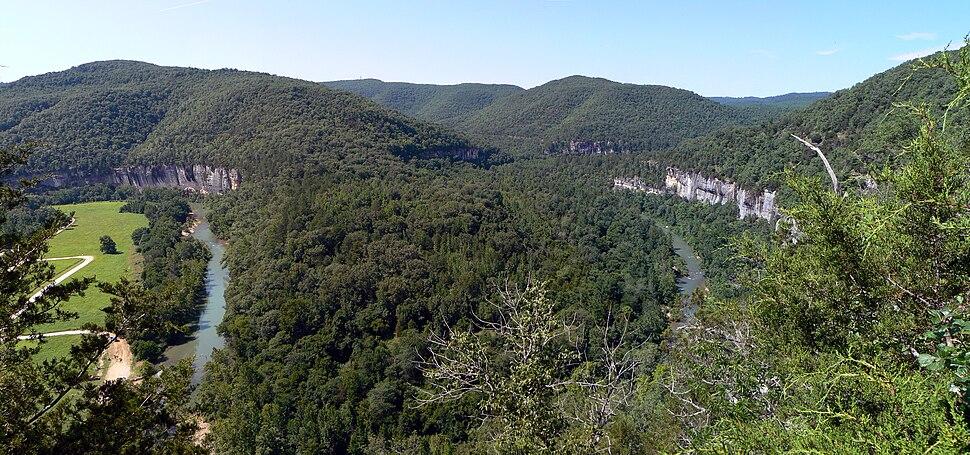 Buffalo national river steel creek overlook