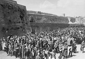 Sajmište concentration camp - Jews were rounded up by the Germans after the Axis invasion of Yugoslavia.