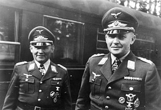 Hermann-Bernhard Ramcke - Ramcke (left) and Student in 1941.