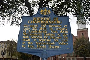 Historical marker near courthouse.