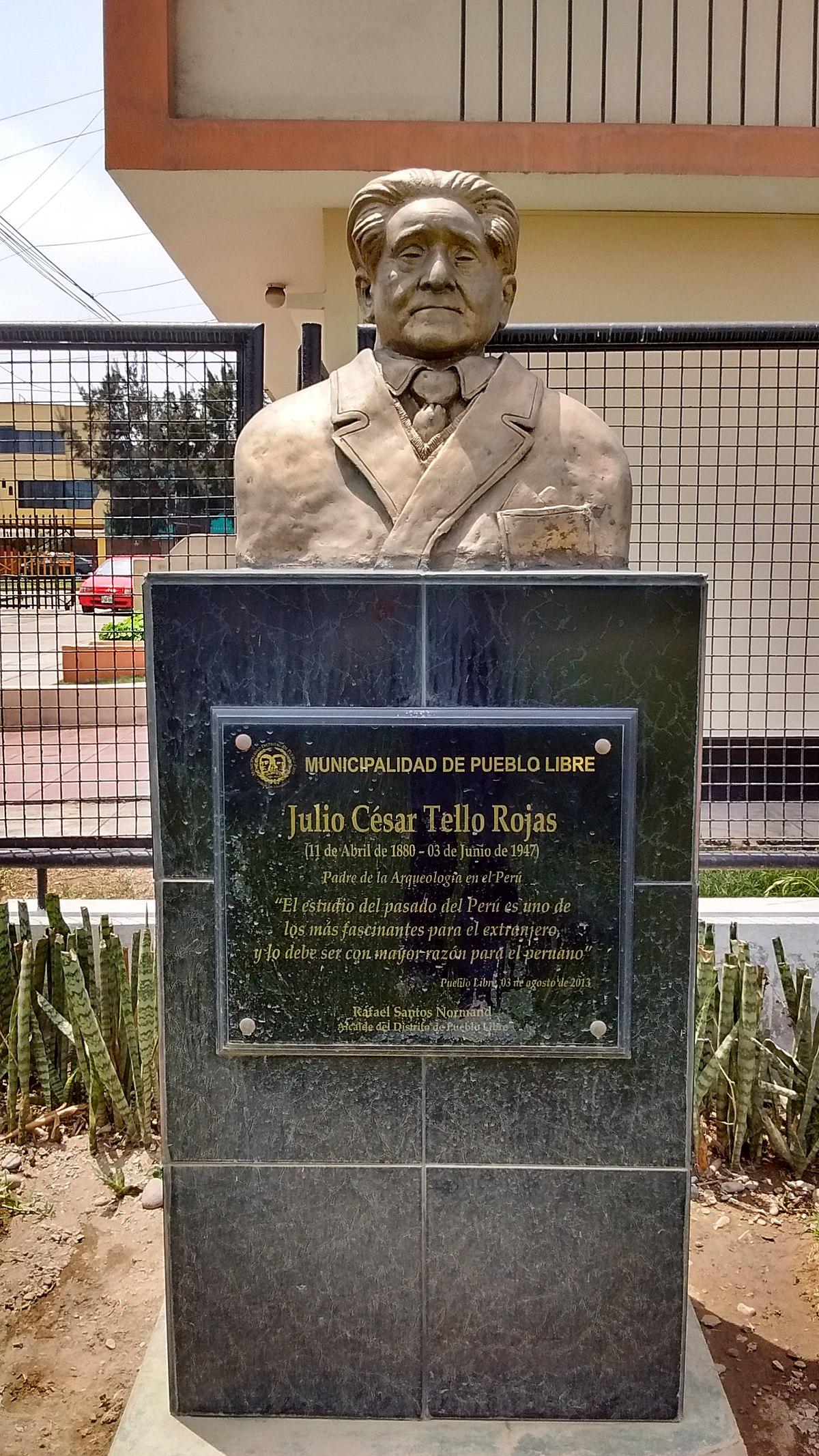 Julio César Tello - Wikipedia, la enciclopedia libre