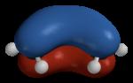 Delokalisiertes Molekülorbital bei 1,3-Butadien