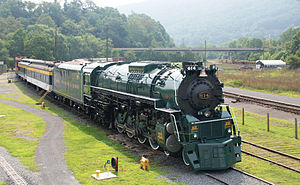 C&O Railway Heritage Center - C&O 614 Locomotive - 3.JPG