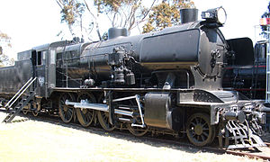 Victorian Railways C class - Victorian Railways C class 2-8-0 locomotive No. C 10, as preserved at the Australian Railway Historical Society North Williamstown Railway Museum.