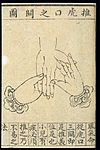 C20 Chinese medical illustration in trad. style; Hand massage Wellcome L0039651.jpg