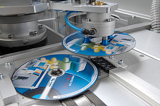 Compact Disc manufacturing - CD are printed in waterless offset