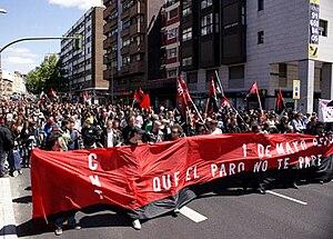 Manifestación del 1 de mayo de laCNTenMadrid.
