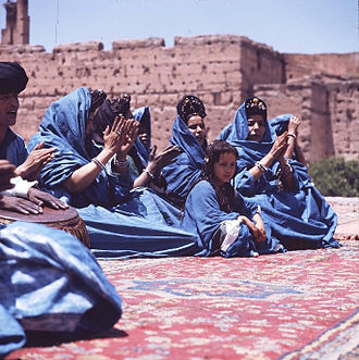 Sanhaja - Dance group of Sanhaja from the western Sahara at the National Folklore Festival at Marrakech