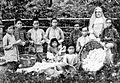 COLLECTIE TROPENMUSEUM Meisjes zuiveren kapok onder leiding van een rooms-katholieke zuster Kai-eilanden TMnr 10000700.jpg
