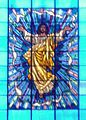 CPU Church Stained Glass Window (located at the Church's altar).JPG