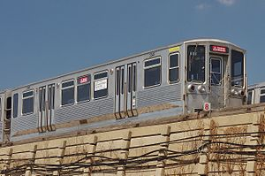 2200 series (CTA) - Retired 2200-series car 2346 in the Harlem Yard on August 24, 2013