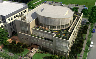 Chicago Theological Seminary - Aerial view of new CTS building on University of Chicago campus