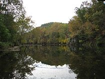 Cacapon River West Virginia Route 127 Bridge Forks of Cacapon WV 2008 10 12 06.jpg