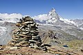 Cairn on Gornergrat, Wallis, Switzerland, 2012 August.jpg