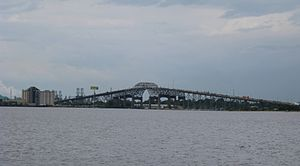 Calcasieu River - The Calcasieu River Bridge crosses the Calcasieu River in Lake Charles, Louisiana.