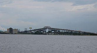 Calcasieu River - The Calcasieu River Bridge crosses the Calcasieu River in Lake Charles, Louisiana.