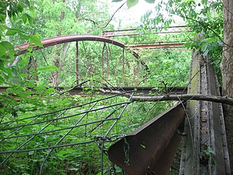 Claridon Township, Marion County, Ohio - Abandoned Caledonia Bowstring Bridge over the Olentangy River