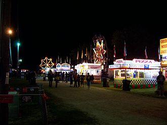 Calumet County, Wisconsin - 2006 Calumet County Fair at night
