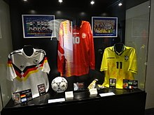 4428ee3a23 Romário s No.11 Brazil shirt (right) from the 1994 FIFA World Cup