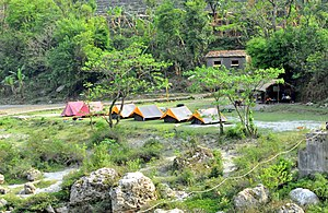 Sarju River - Image: Camping on saryu river panoramio