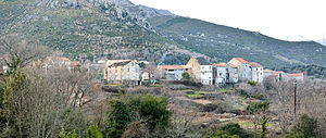 Casanova, Haute-Corse - A panorama of the old village