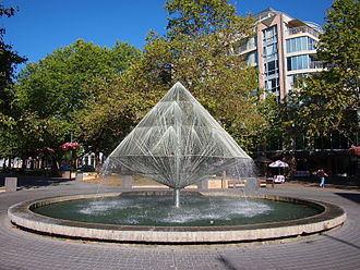 Robert Woodward (architect) - Image: Canberra Times Fountain January 2014