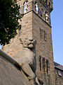 Cardiff Castle Animal wall with Clocktower in the background.jpg