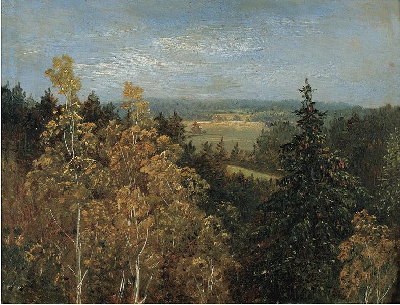 Файл: Карл Густав Карус - Blick uber Eine Waldlandschaft.jpg