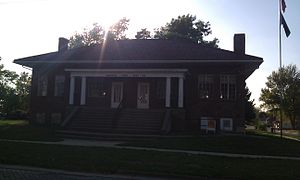 National Register of Historic Places listings in Lucas County, Iowa - Image: Carl L Caviness Post 102, American Legion 2012 09 27 19 50 21