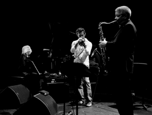 Andy Sheppard - Andy Sheppard (r) in Monaco with Carla Bley and Paolo Fresu