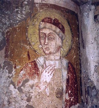 Carsulae - Fresco in the Chiesa di San Damiano