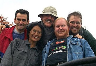 Edgar Allan Poe: Once Upon a Midnight - John Astin (center) with production crew of show