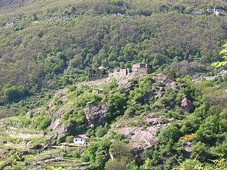 Pont-Saint-Martin, Aosta Valley - Ruined castle of Pont-Saint-Martin.