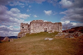 Knapdale - Castle Sween, one of the oldest stone castles now in Scotland