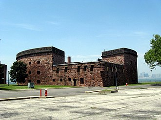 Castle Williams - Landward side