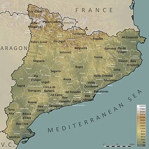 Extreme points of Catalonia - Catalonia map