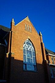 Catholic church front