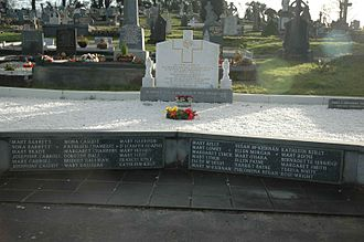 The grave containing the remains of the 36 victims. Cavan Orphanage Grave.jpg