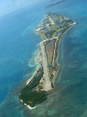 Caye Chapel - Caye Chapel from the air