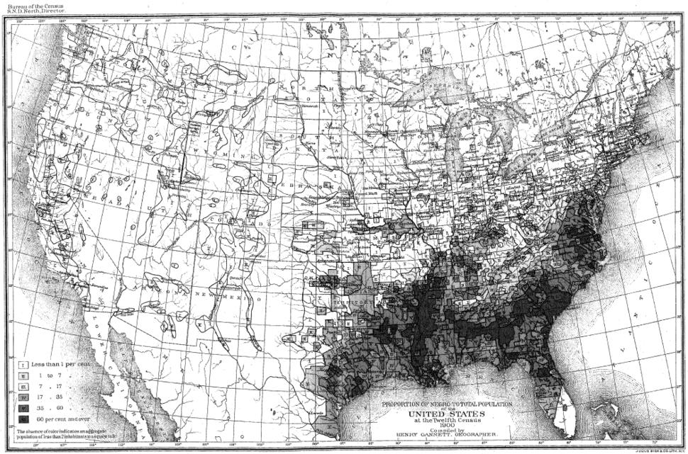 Census 1900 Percent Black