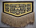 Ceremonial cape, Tlingit people, Chilkat clan, northwest coast of North America, 1850-1900 AD, cedar bark, mountain goat hair, sheep's wool, view 1 - Textile Museum, George Washington University - DSC09926.JPG