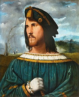 Portrait of Gentleman (Cesare Borgia), used as an example of a successful ruler in The Prince Cesareborgia.jpg