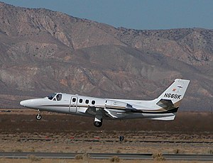 Cessna citation ISP-Mojave-070126.jpg